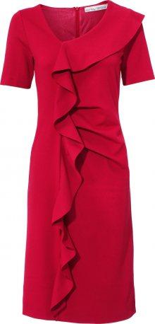 heine Koktejlové šaty rubínově červená