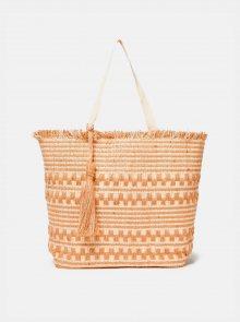 Světle hnědá plážová jůtová taška Dorothy Perkins