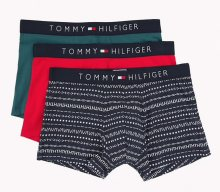 Tommy Hilfiger 3Pack Boxerky Red, Green, Navy S
