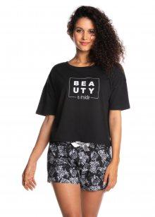 Dámské pyžamo Lama L-1366 PY kr/r S-XL černá S