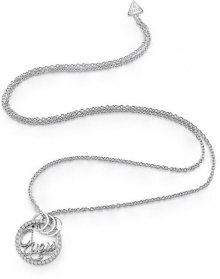 Guess Dlouhý náhrdelník s třpytivým přívěskem UBN85083A