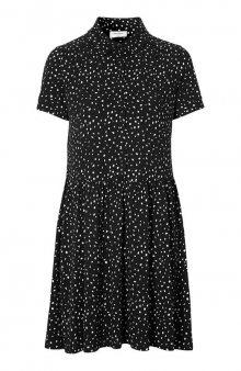 Šaty s krátkým rukávem Spot / černá/smetanová