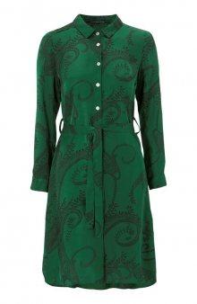 Košilové šaty s kašmírovým Paisley vzorem Olivia / šedá