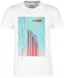 s.Oliver Pánské triko 13.003.32.4738.0100 White M