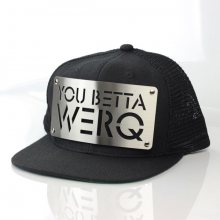 Karl Alley You Betta Werq Mesh Snapback Black Silver - UNI