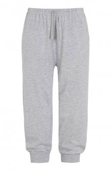 Kalhoty capri s náplety / šedý melír
