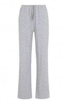 Kalhoty pro volný čas s rovnými nohavicemi / šedý melír