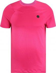 UNDER ARMOUR Funkční tričko \'HG Rush Fitted\' černá / pink