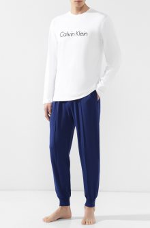 Calvin Klein Pánské Tepláky Modré Se Švy L