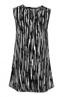 Tunika bez rukávů / černá/bílá/se vzorem