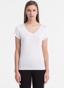 Calvin Klein Tričko Luxe White S