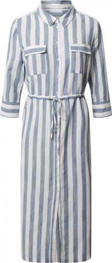 OPUS Košilové šaty \'Weife ST\' bílá / světlemodrá