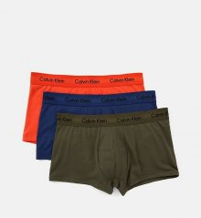 Calvin Klein 3Pack Boxerky Orange, Blue, Khaki LR M