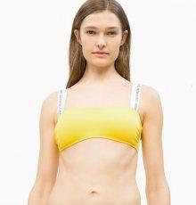 Calvin Klein Plavky CK Logo Yellow Vrchní Díl XXS