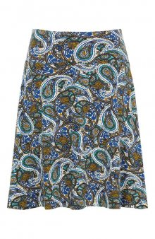 Krátká úpletová sukně / vícebarevná/kašmírová