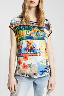 Desigual barevné oversize tričko TS Safari - S