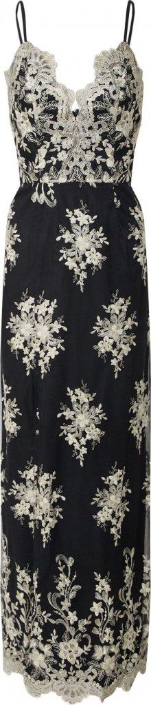 Chi Chi London Šaty \'Chi Chi Hallie Dress\' černá / zlatá