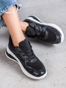 Trendy  tenisky dámské černé bez podpatku 37