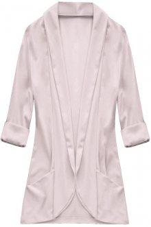 Přehoz přes oblečení v pudrově růžové barvě s 3/4 rukávy (92ART) růžová ONE SIZE