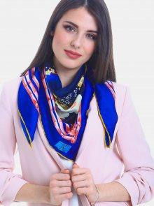 Tmavě modrý dámský vzorovaný šátek Versace 19.69