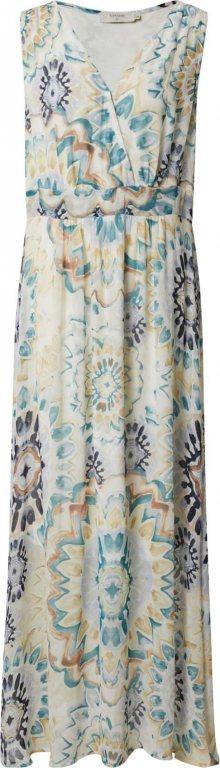 Cream Šaty \'Gemma\' mix barev / krémová / aqua modrá