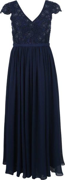 My Mascara Curves Společenské šaty \'BEADED LACE\' námořnická modř