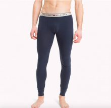 Tommy Hilfiger Logo Waistband Long Johns Navy S