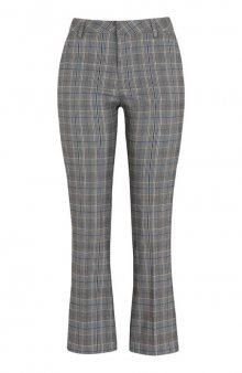 Kotníkové kalhoty střihu bootcut Isadora / kostkovaný vzor