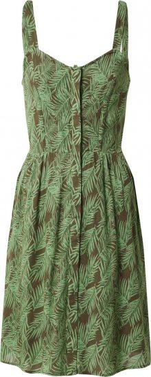 Noisy may Letní šaty \'NMFLORA\' zelená / bílá