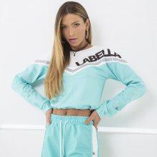 Labella Mikina Turquoise/White M