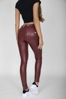 Hugz Wine Faux Leather Mid Waist XL
