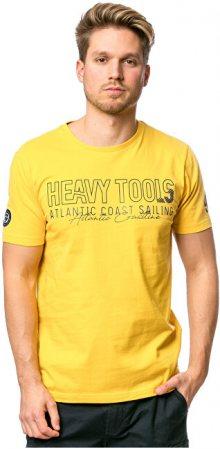 Heavy Tools Pánské triko Militar yellow C3S20117YE XXXL