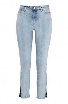 Strečové džíny s kroužky zlaté barvy / sv. modrá/denim