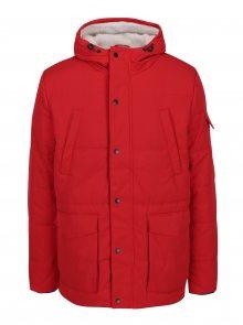 Červená voděodolná bunda s umělým kožíškem Burton Menswear London
