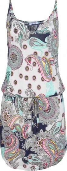 BEACH TIME Plážové šaty mix barev