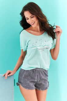 Krátké dámské pyžamo 2279 WILLY S-XL márová XL