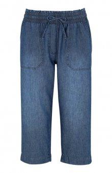 Volné denimové capri kalhoty / modrý denim