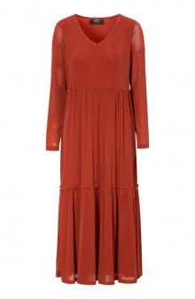 Třpytivé šaty ze síťoviny Laila / rezavá