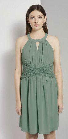 TOM TAILOR DENIM Koktejlové šaty pastelově zelená