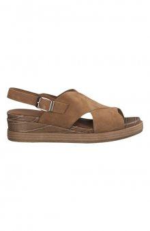 Semišové sandály / hnědá