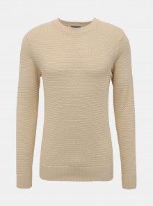 Béžový basic svetr Selected Homme Tommy