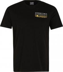 PUMA Funkční tričko \'ATHLETICS Advanced Tee\' černá / zlatá