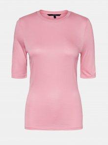 Růžové basic tričko VERO MODA Mette