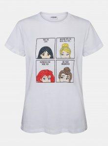 Bílé tričko s potiskem Noisy May Princess