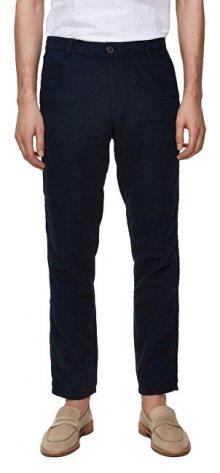 SELECTED HOMME Pánské kalhoty SLHSTRAIGHT-PARIS LINEN PANTS W Dark Sapphire 30/32