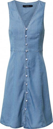 VERO MODA Košilové šaty \'LENA\' modrá džínovina