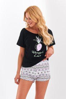Krátké dámské pyžamo 2362 GABI S-XL černá XL