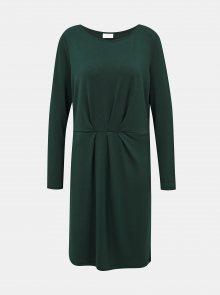 Tmavě zelené šaty VILA