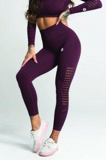 Gym Glamour Legíny Bezešvé Dark Berry S
