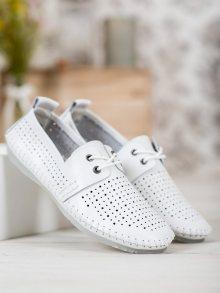 Designové dámské  tenisky bílé bez podpatku 38